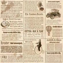 Old Newspaper British Background.
