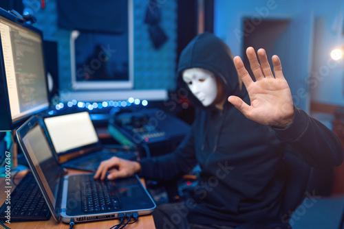 Fotografía Hacker in mask and hood, account hacking
