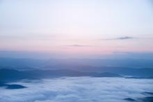 Mountain Fog Sky Clouds Landsc...