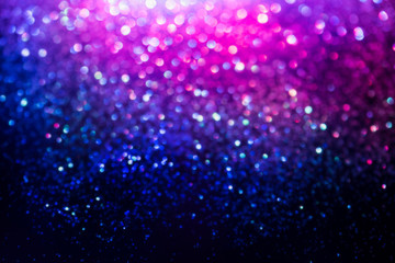 glitter bokeh lighting effect Colorfull Blurred abstract background for birthday, anniversary, wedding, new year eve or Christmas