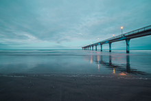 LWTWL0007478 Long Exposure Of An Ocean And New Brighton Pier Christchurch