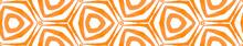Orange Kaleidoscope Seamless Border Scroll. Geomet