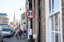 Shallow Focus Of A 20 Mph Sign...