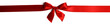 Leinwanddruck Bild - Red gift bow on white