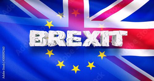 Montage in der Fensternische Dunkelblau Brexit