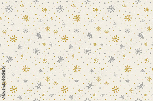 Türaufkleber Künstlich Pattern with hand drawn snowflakes. Christmas background. Vector