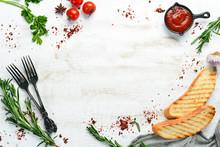 Food Banner. Vegetables And Sp...