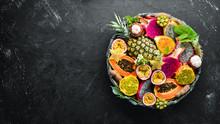 Tropical Fruits: Papaya, Mango...