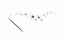 Magic Wand With A Stars. Trace...