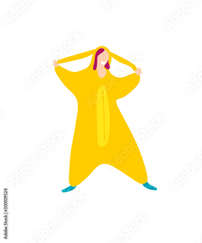 Платно Pop art kigurumi style cartoon trendy flat people