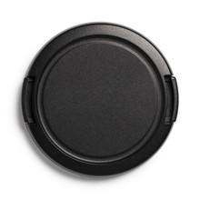 Black Camera Lens Cap, Isolated On White Background