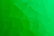 canvas print picture - Polygonal green background of quadrilaterals with gradient.Abstract art.