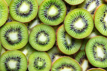Kiwi Fruit Slices As Textured ...