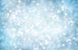 Leinwandbild Motiv Decorative Christmas background with bokeh lights and snowflakes.