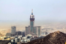 Abraj Al Bait (Royal Clock Tower Makkah) In Mecca, Saudi Arabia.