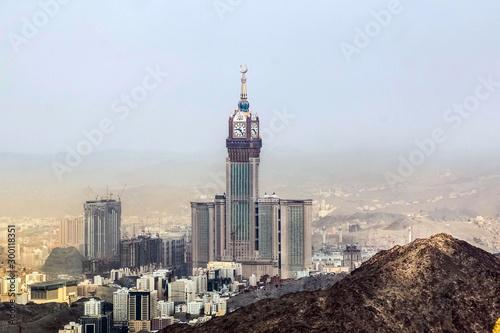 Abraj Al Bait (Royal Clock Tower Makkah) in Mecca, Saudi Arabia.