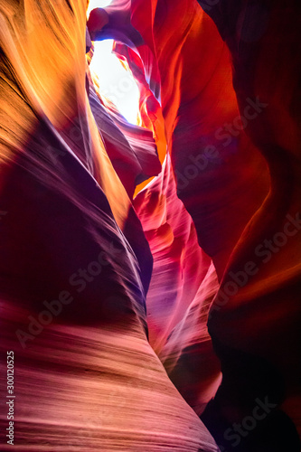 Autocollant pour porte Antilope Sandstone formations in famous Upper Antelope Canyon in Arizona, USA