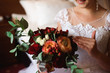 canvas print picture - wedding bouquet, bouqet of beautiful flowers on a wedding day
