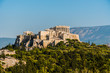 Acropolis and Parthenon in Athens Greece.