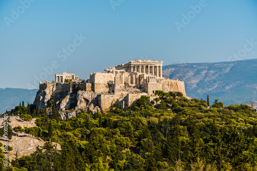 Acropolis and Parthenon in Athens Greece. Canvas Print