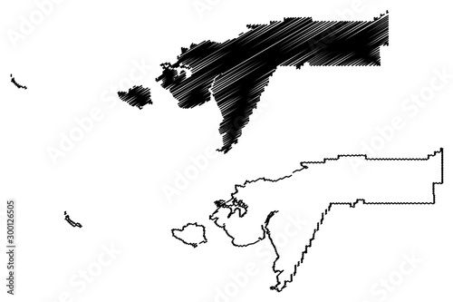 Bethel Census Area, Alaska (Boroughs and census areas in Alaska, United States of America,USA, U Wallpaper Mural