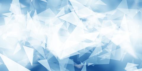 white geometric on blue bac...