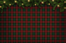 Christmas Checkered Backgroun...