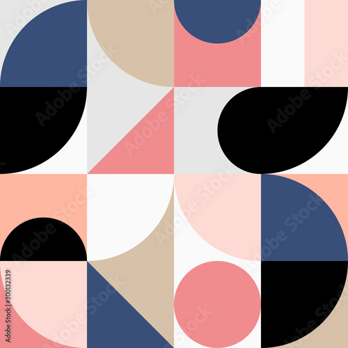 Photo  Minimalistic geometric seamless pattern in Scandinavian style