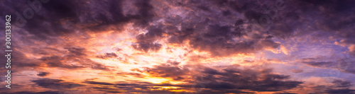 Obraz Panorama dramatic cloudy twilight sky nature backgroud - fototapety do salonu