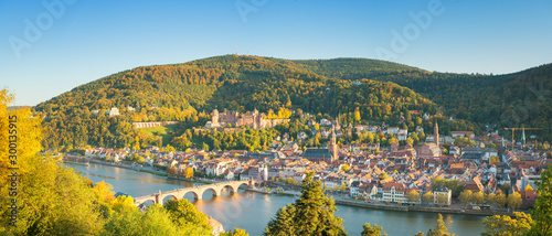 Panoramic view of beautiful Heidelberg, Germany