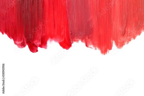 Canvastavla From light to deep colour lipstick texture