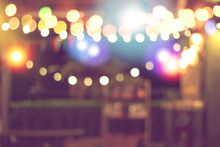 Blurred Bokeh Night Lights In ...