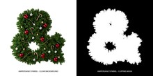 Christmas Ampersand Symbol. Ch...