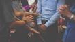 Leinwandbild Motiv People praying together at Church.
