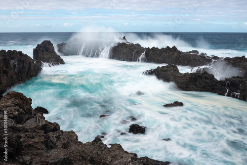 Charco del Viento natural swimming pools, Tenerife island, Spain