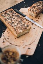 Sliced Homemade Whole Grain Br...