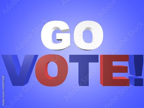 Fotografia, Obraz Go Vote!