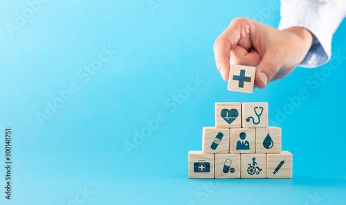 Fotografie, Obraz Health insurance - concept.