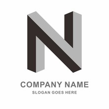 Geometric Square Letter N Space Business Company Vector Logo Design