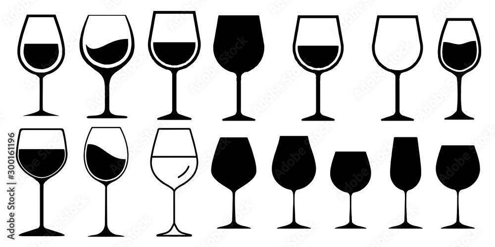 Fototapety, obrazy: Wine Glass Icon Vector Simple Design symbols