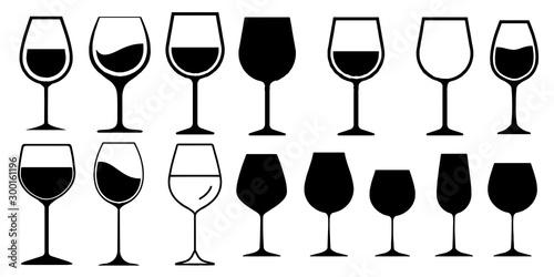Obraz na plátne  Wine Glass Icon Vector Simple Design symbols