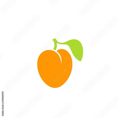 Photo Apricot. Logo. Fresh fruit