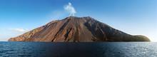 The Stromboli Vulcano Erupting...