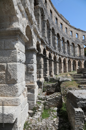 Fototapeta Walls of arena at Pula, Croatia