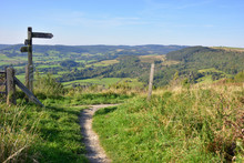 The Cleveland Way At Sutton Bank In The North York Moors