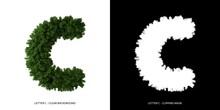 Letter C Uppercase Of Leaves. ...
