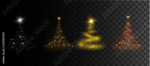 Stampa su Tela  Christmas festive tree