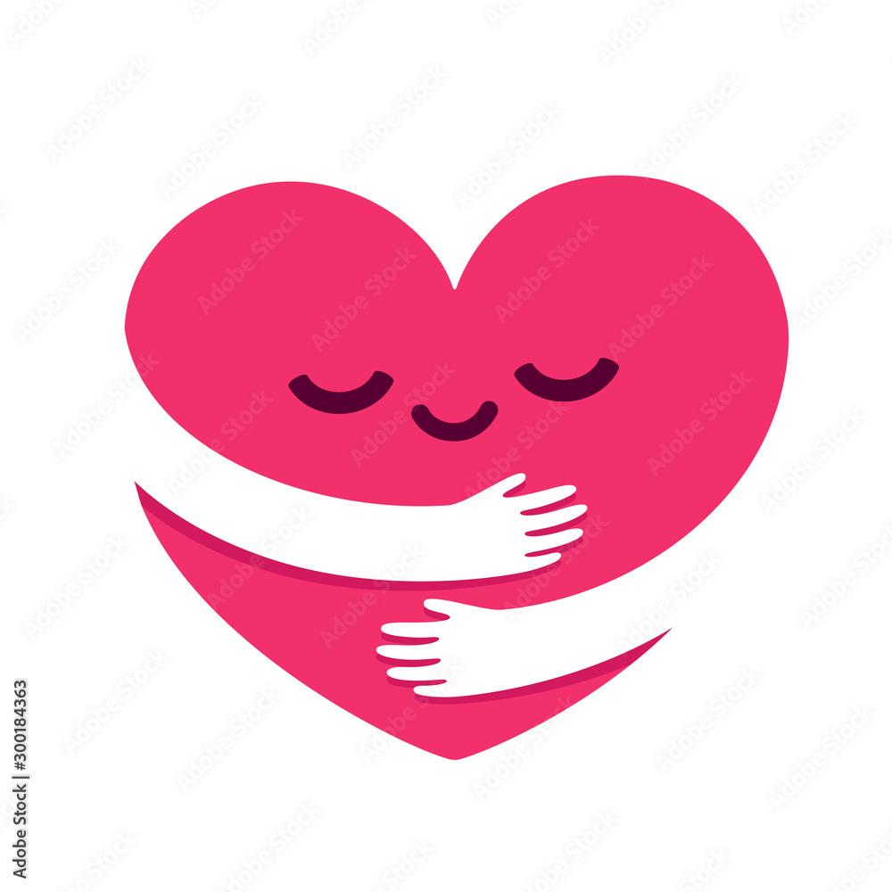 Fotografia Love yourself heart hug