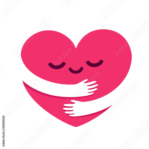 Fotografía Love yourself heart hug