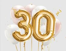 Happy 30th Birthday Gold Foil ...
